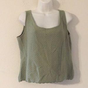 St john womens green top size xl